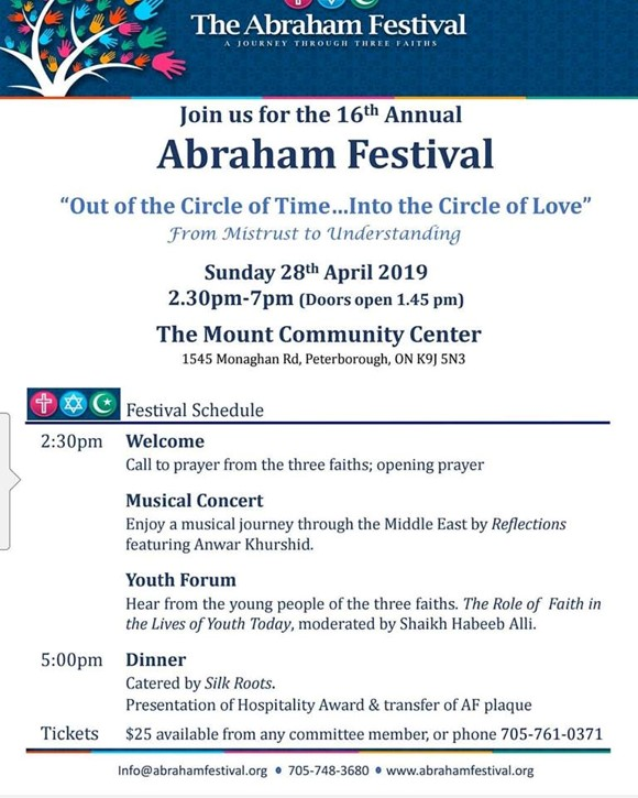The Abraham Festival 16th Annual Event - Details